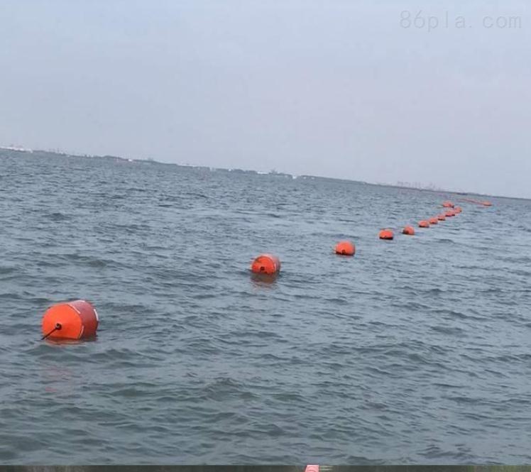 河道湖泊水上施工警示浮排串连浮筒