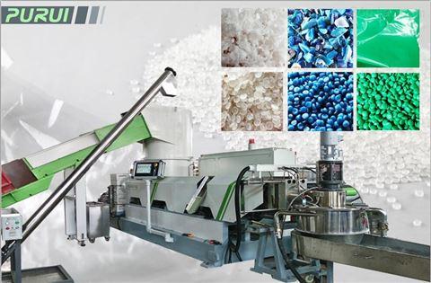 HDPE中空破碎料+PE薄膜回收造粒生产线(多功能软硬塑料)