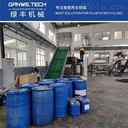 化工吨桶洗料机压缩胶水桶资源化处置清洗线