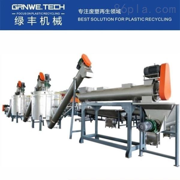 PET瓶砖再生机器 聚酯瓶片回收加工生产线
