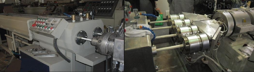PVC、PE、PP一出四管材生产线